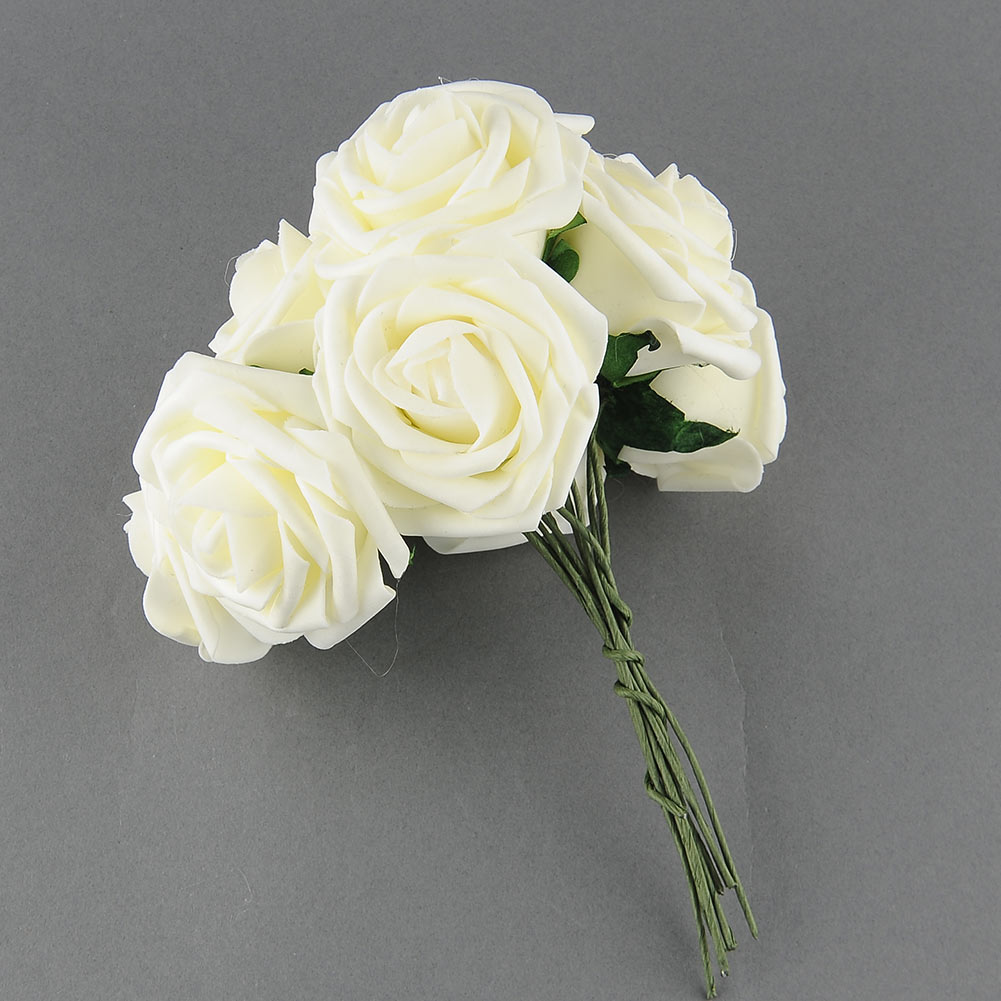 10× Lovely Artificial Rose Flower Wedding Bridal Bouquet Rome Home Decoration