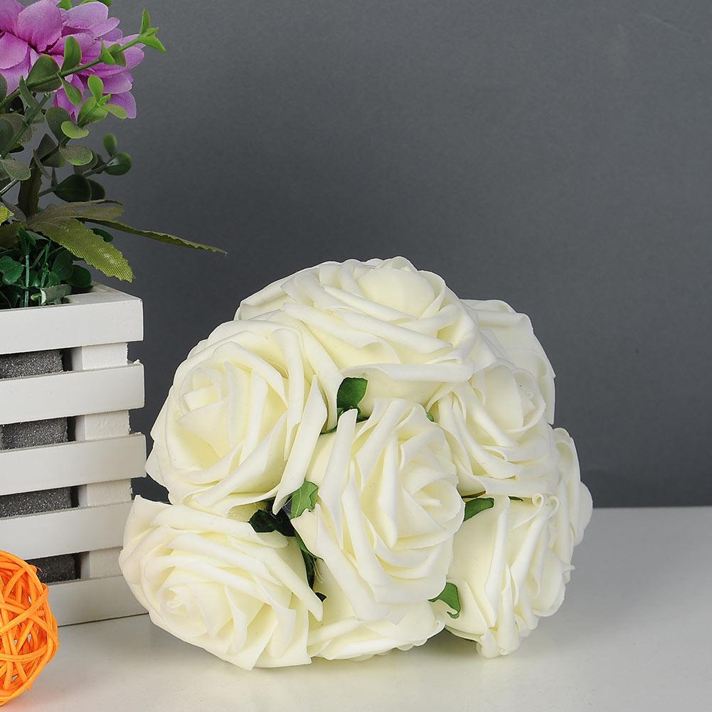 Beautiful Artificial Rose Flower Wedding Bridal Bouquet Rome Home Decoration
