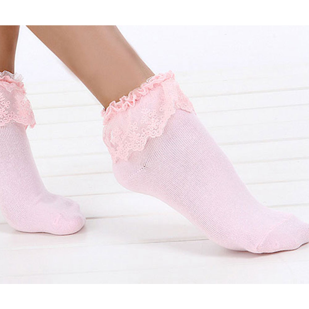 Hot Lovely Cute New Vintage Retro Lace Frilly Ankle Socks Ladies 5 Colors