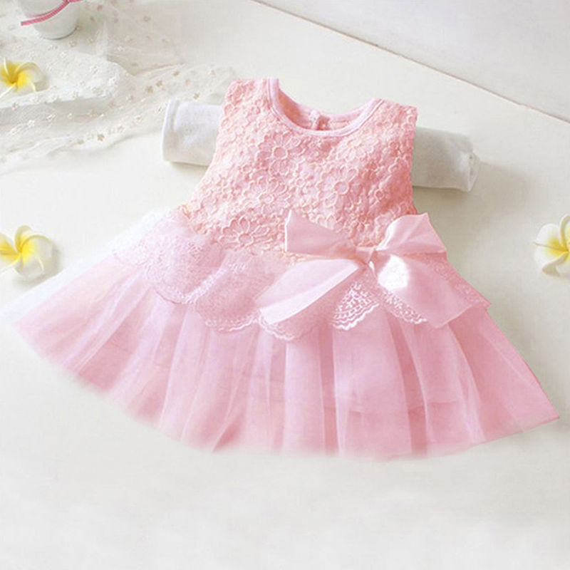 Brand Hot Fashion Cute Baby Kids Girls Princess Formal Lace Flower Dress