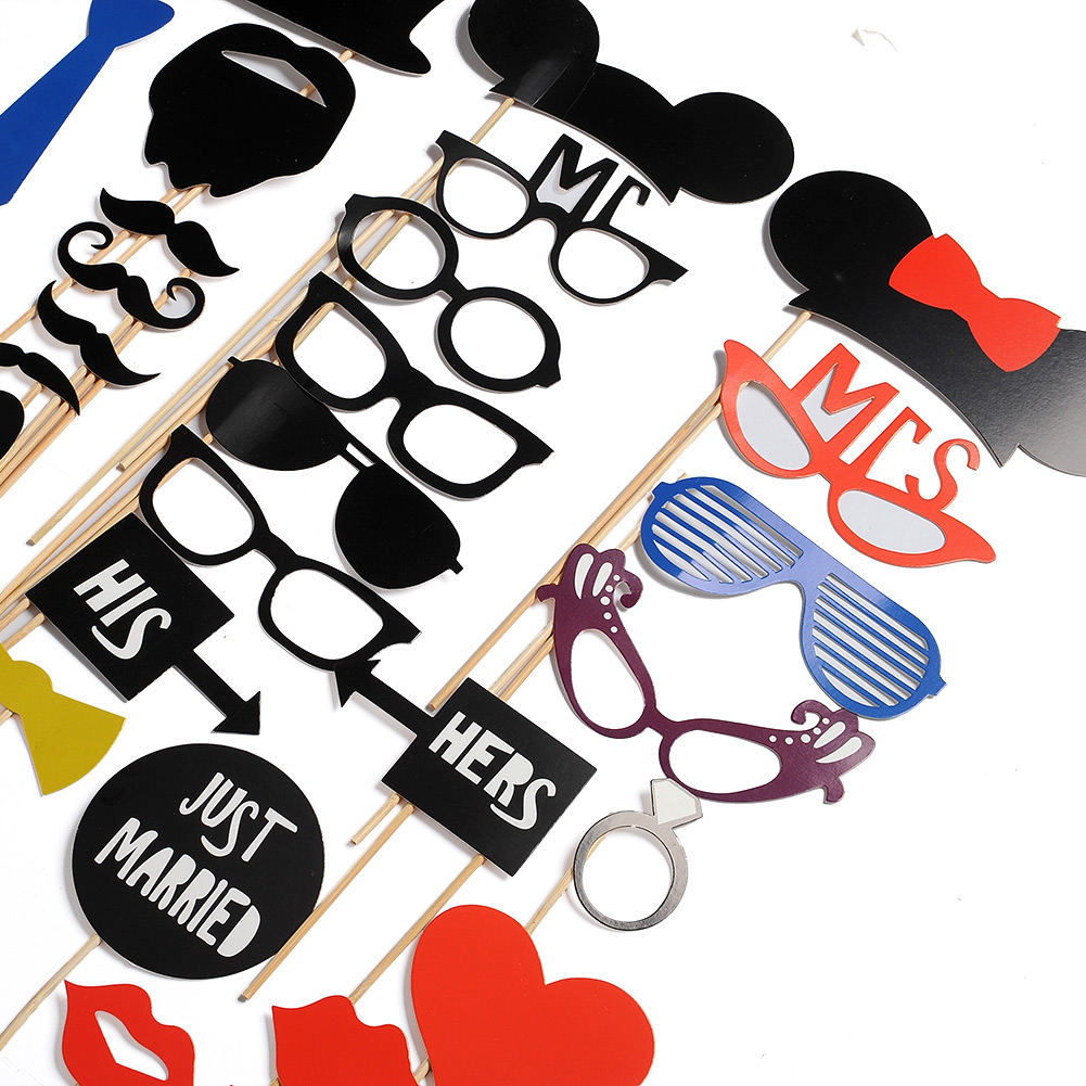 DIY Face Funny Photo Photobooth Props Masks On A Stick Wedding Favor Gift
