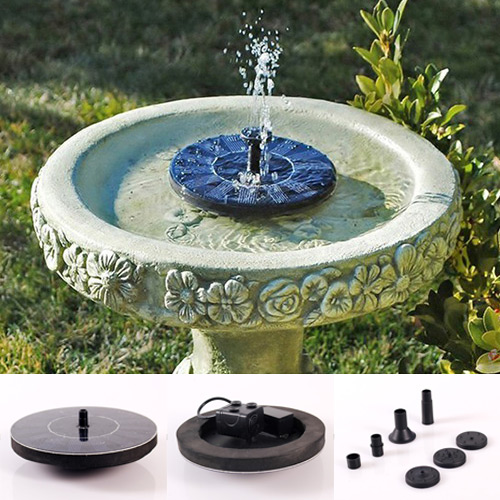 New Solar Panel Powered Water Floating Pump Fountain