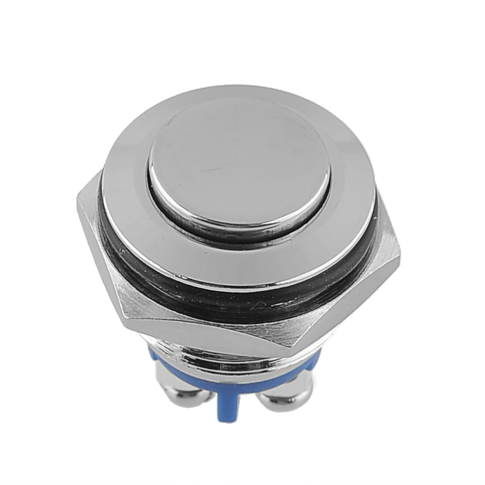1 x 16mm Auto wasserdicht Druckknopf Schalter reaktionsfähigen Screw Terminals