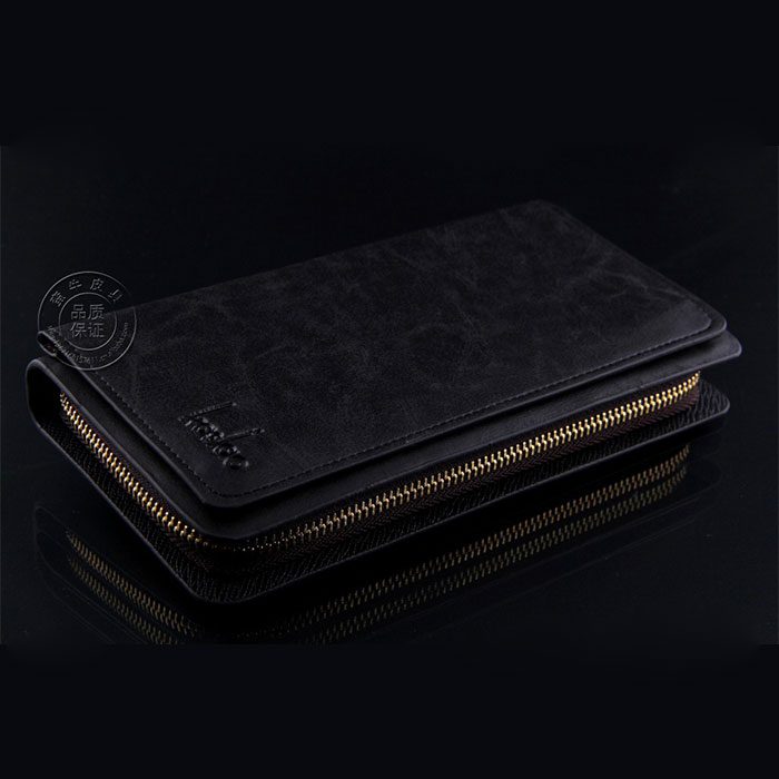 Fashion Men's Leather Card Holder Clutch Wallet Purse Handbag Black Coffe