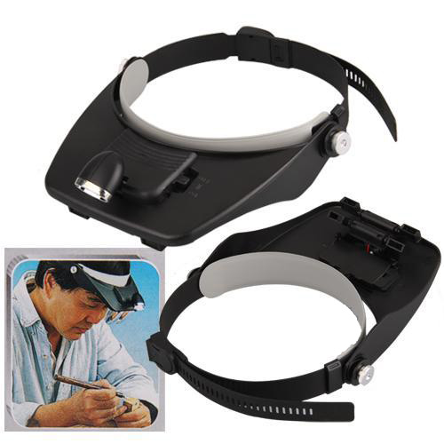 headband headset led head light magnifier magnifying glass. Black Bedroom Furniture Sets. Home Design Ideas