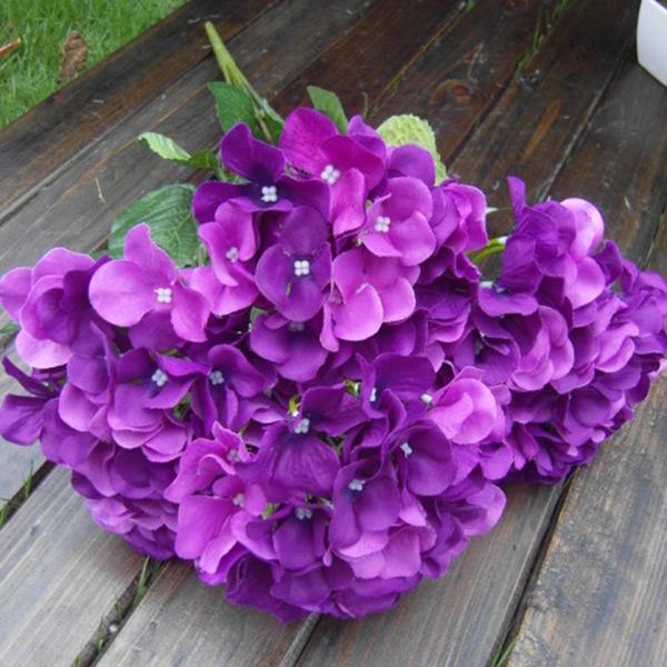 Artificial Silk Fake Flower Bunch Home Hotel Wedding Garden Decor Hydrangea