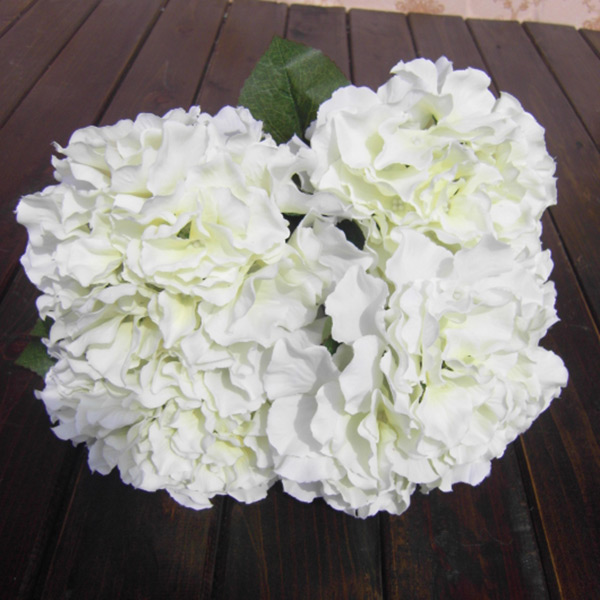 5 Flower Heads Artificial Fake Flower Bouquet Home Party Floral Hydrangea