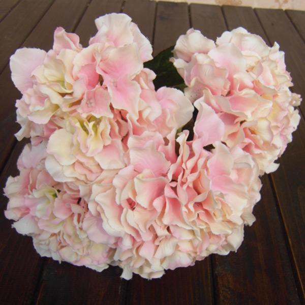 5 Flower Heads Artificial Fake Flower Hotel Wedding Garden Decor Hydrangea