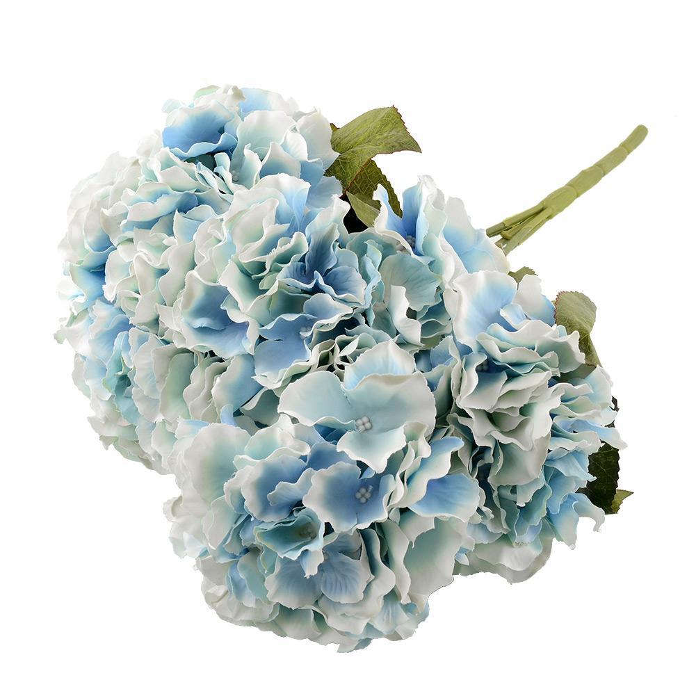 5 Flower Heads Artificial Flower Bunch Bouquet Home Party Floral Hydrangea