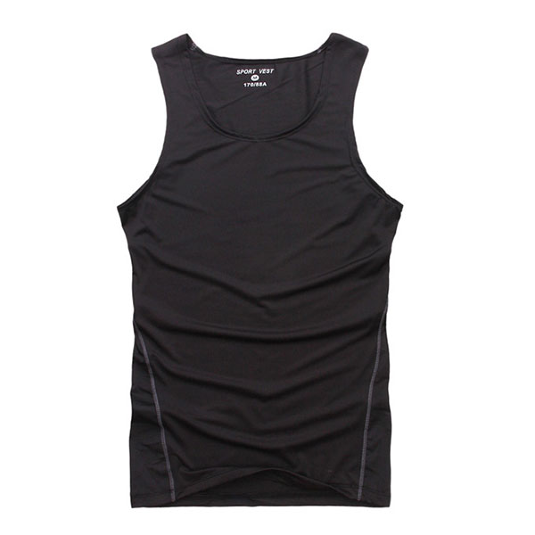 New Summer Mens Elastic Sleeveless Tank Tights Tops Shirts Sports Vest Blouse