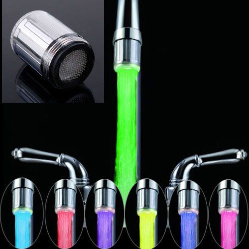 Elegant LED Faucet 7 Colors Changing Glow Shower Sensor Tap Color ShowerS