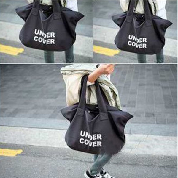 Fashion Women Casual Canvas Travel Handbag Logo Shoulder Shopping Big Bag