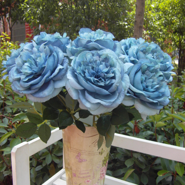Artificial Silk Rose Flower Bridal Bouquet Wedding Party Home Decor DIY