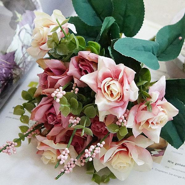 1Bunch Artificial Rose Silk Flowers Home Decor Multicolor Flower Arrangment