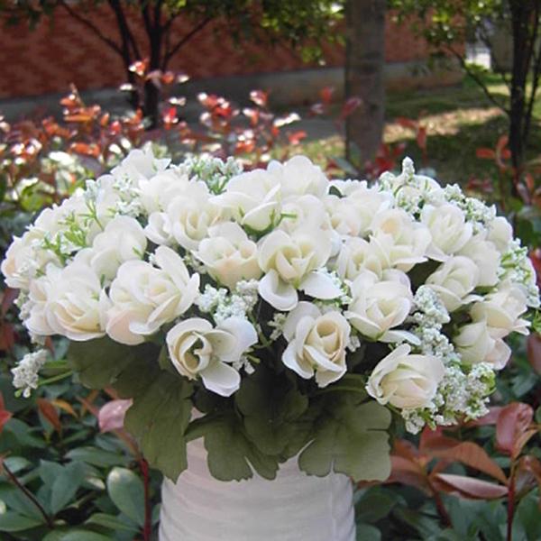 Artificial Fake Rose Silk Flowers Garden Bridal Wedding Festival Xmas Decor