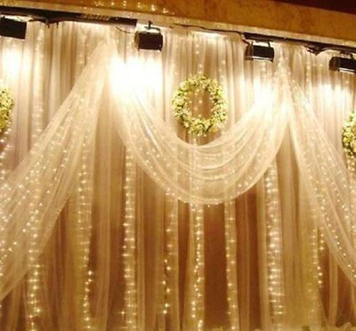 Romantic 1mx2m Gorgeous 104 LED Christmas Decor String Fairy Light Curtain
