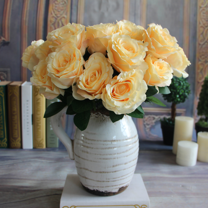 7-Branches Spring Artificial Fake Silk Rose Flowers Room Hotel Decor Gift