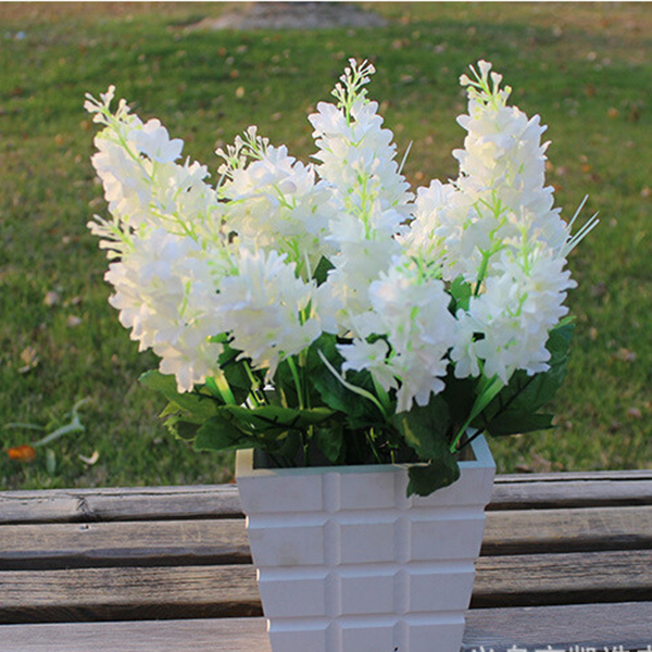 Hot Lovely 5 Heads Artificial Fake Hyacinth Flower Bedroom Home Hotel Decor