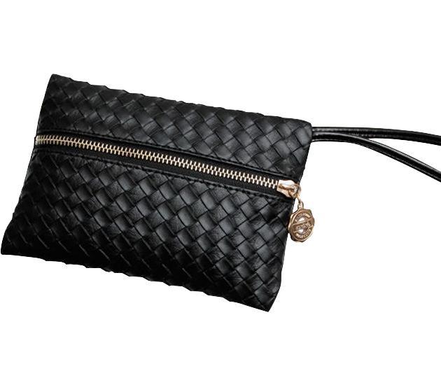 Fashion Women PU Leather Satchel Handbag Pattern Clutch Zip Evening Bag