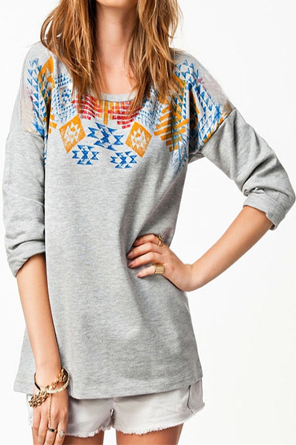 Fashion Womens Loose Long Sleeve Hoodie Crew Neck Tops Shirt Blouse New