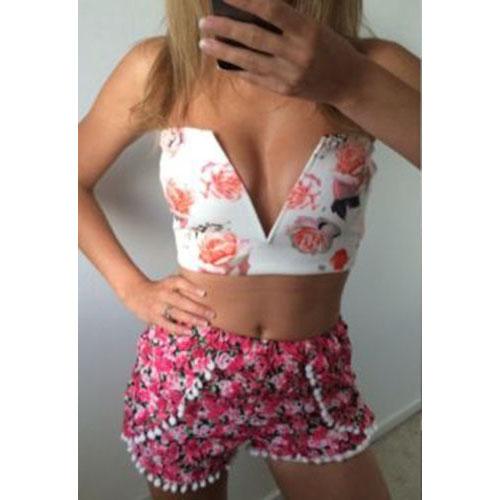 Sexy Women Plunge Bra Corset Bustier Crop Tank Zip Clubwear Party Tops