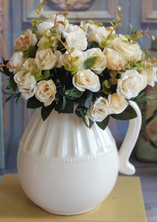 Wedding Bridal European Bunch Artificial Rose Leaf Flowers Bouquet Party Garden