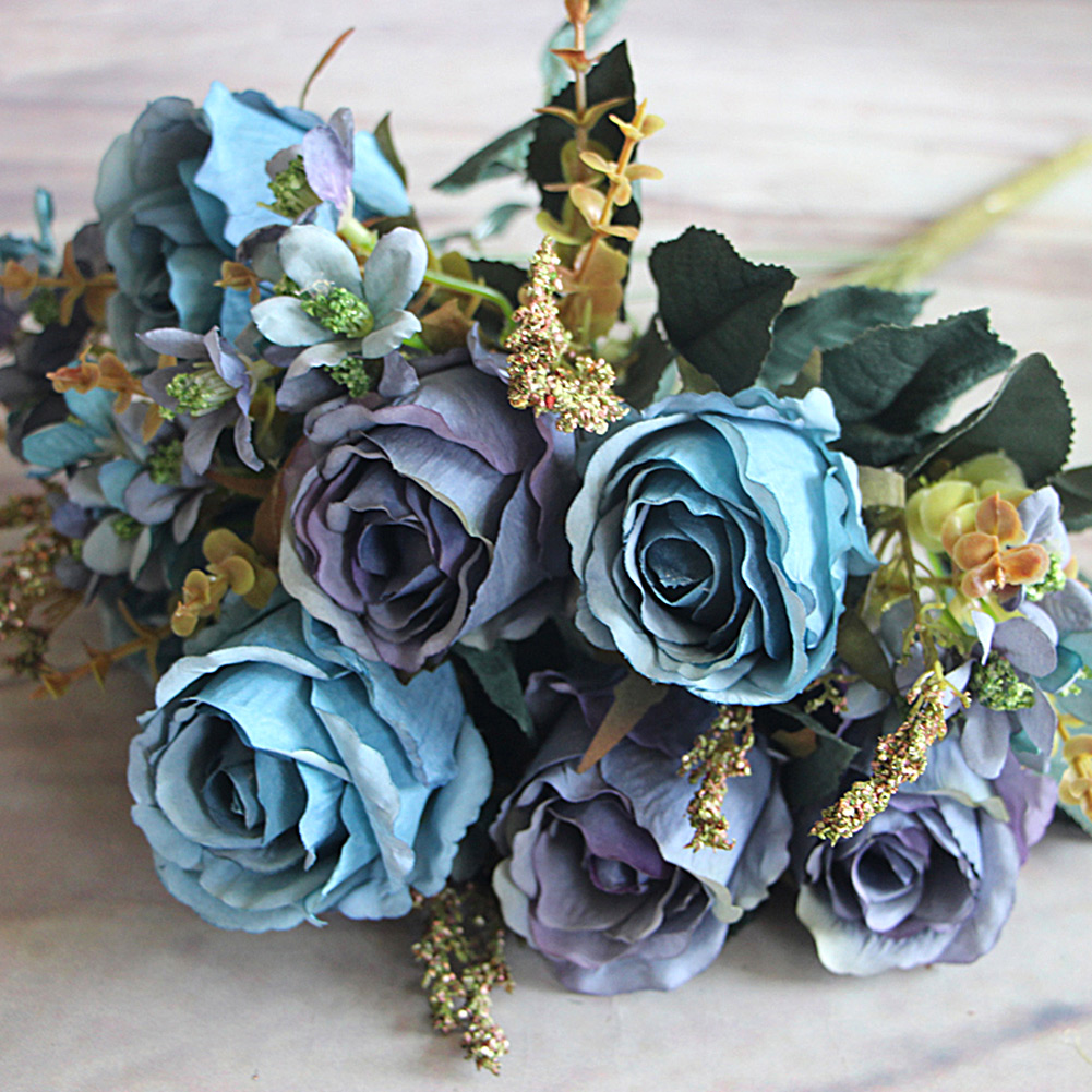 Charming Large Palace Earl Rose Multi Color Artificial Flowers Wedding Flower