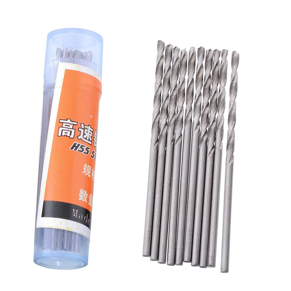 10pcs 0.5-2.5mm HSS Straight Shank Twist Drill Bits Set for Drill Tools