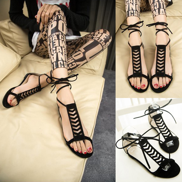 Fashion Women Flip Flop Flats Gladiator Casual Strappy Shoes Slippers Sandal
