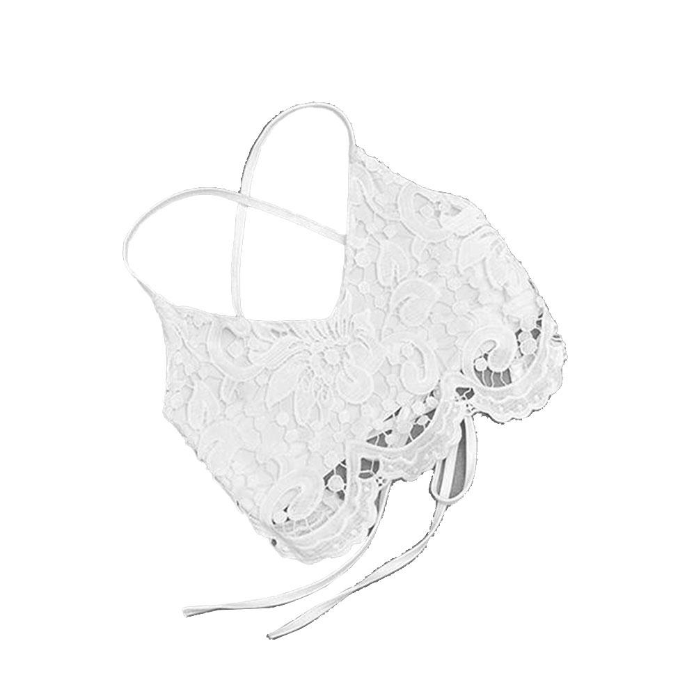 Women Crochet Bustier Tank Camisole Lace Vest Blouse Bralette Bra Crop Top