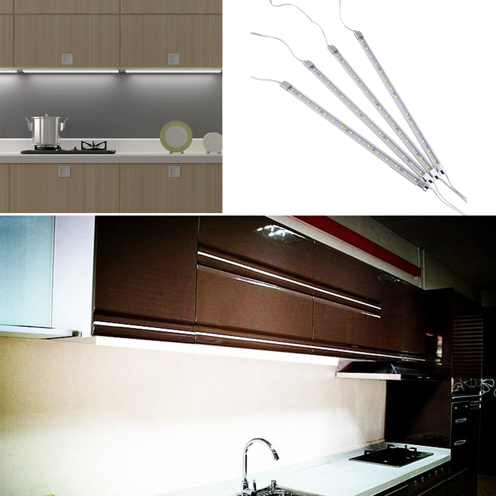 4Pcs Kitchen Home Under Cabinet Counter 15 LED Practical