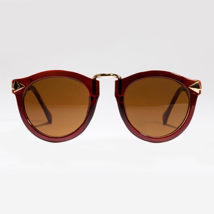 Fashion Vintage Unisex Women Lady Arrow Style Metal Frame Round Sunglasses