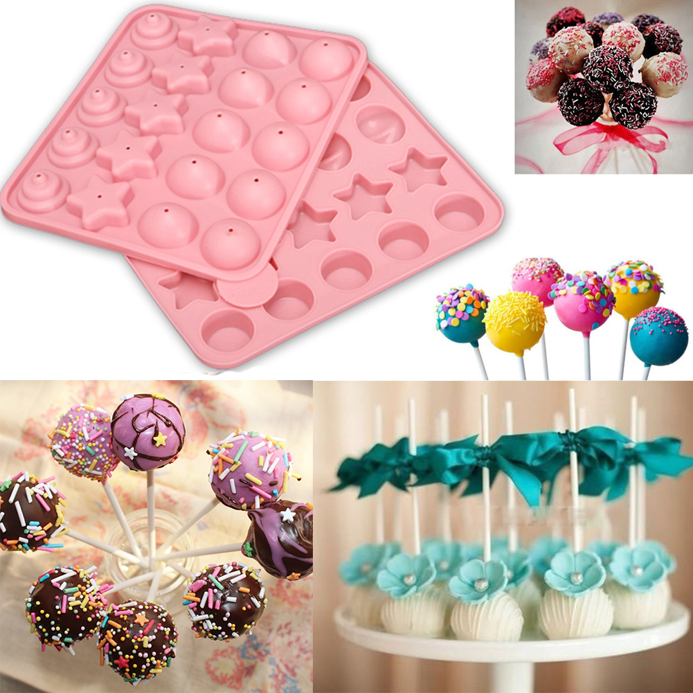 Cake With Fondant Storage : Silicone Cake Chocolate Lollipop Fondant Mold Stick Tool ...