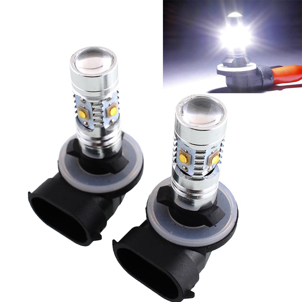 2pcs 881 25W CREE LED Energy Saving White Car Auto Fog Running Light Lamp Bulb
