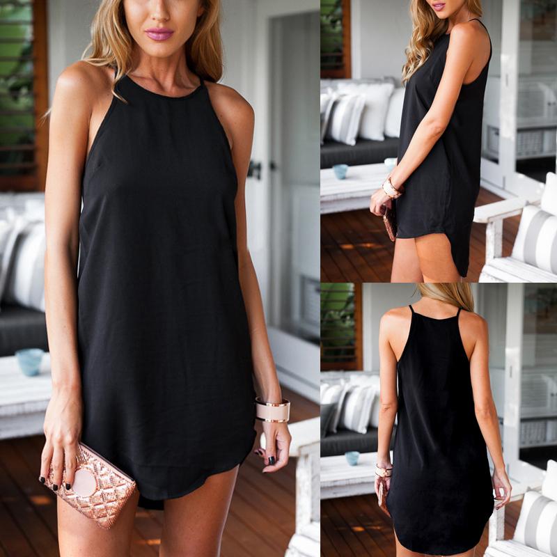 New Fashion Women's Lady Summer Sleeveless Evening Party Short Mini Dress
