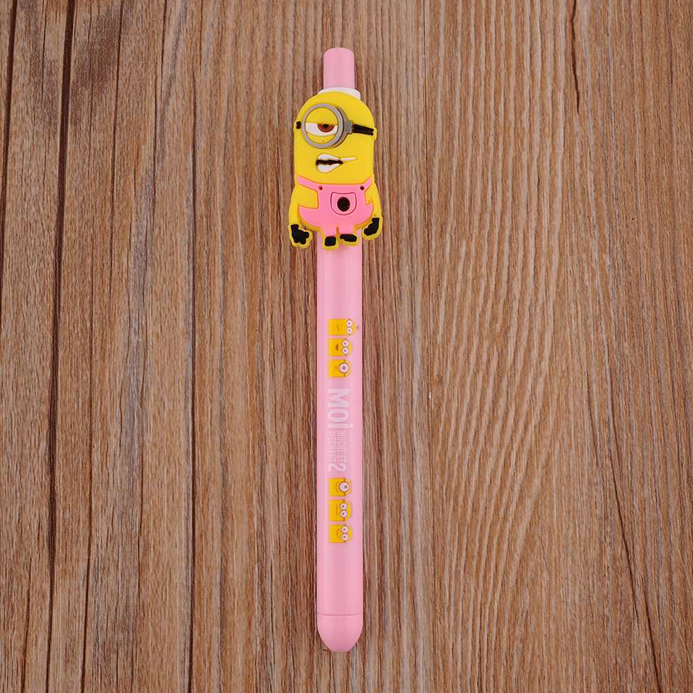 8 Styles Cute Fun Despicable Me 2 Minions Figures Ballpoint Pen Kids Stationery