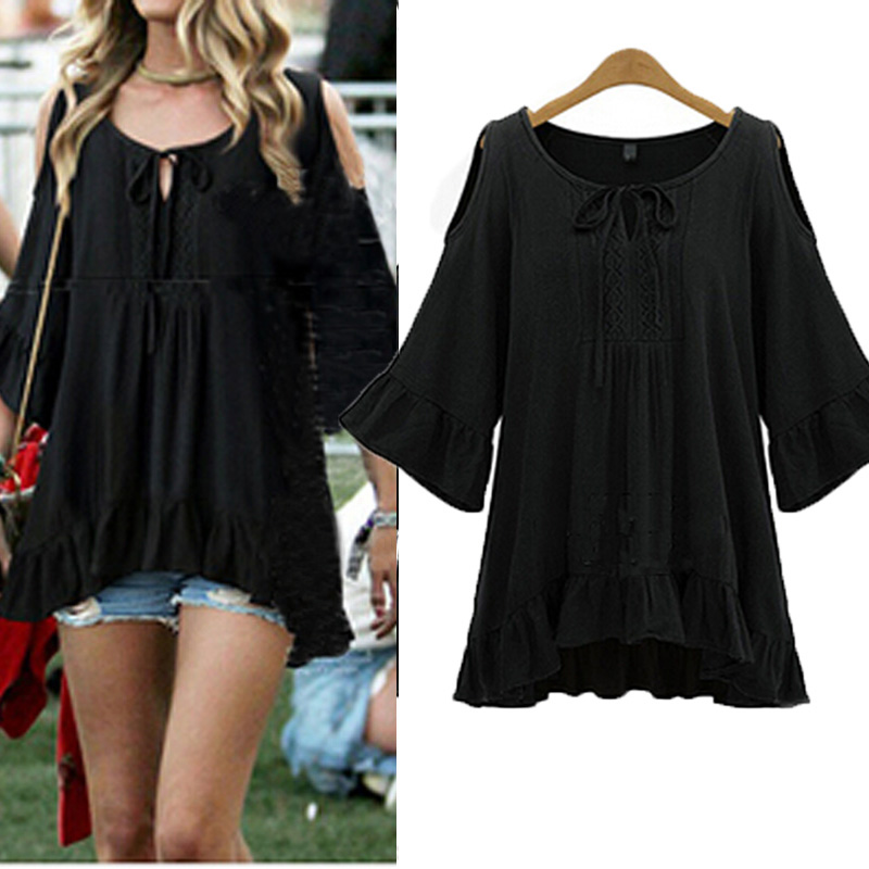 New Women Lady Off Shoulder Loose Cocktail Party Tops Blouse Tee T-Shirt Dress