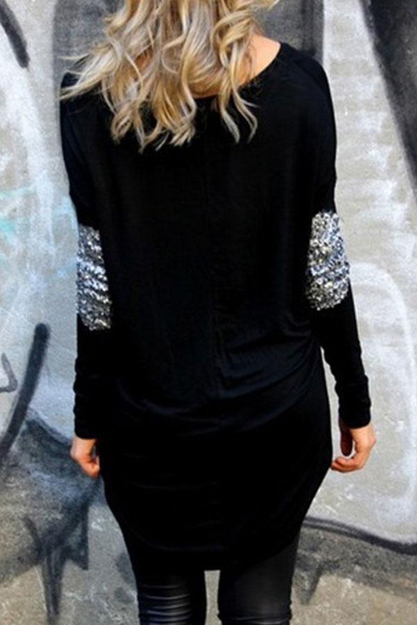 New Women Ladies Summer Long Sleeve Blouse Casual Crewneck Shirt Tops T Shirt
