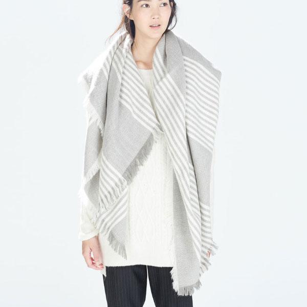 Women Tartan Plaid Fashion Checker Wrap Cape Pashmina Poncho Shawl Scarf