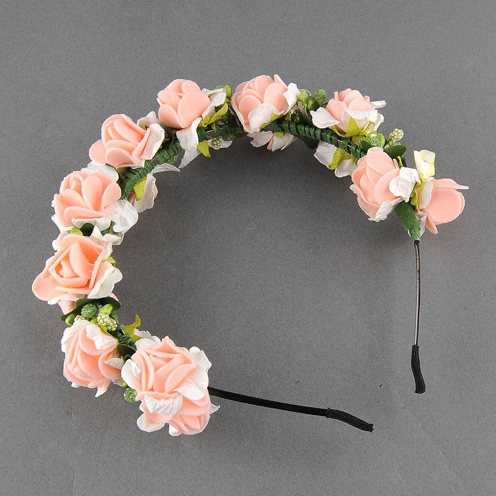 Flower Garland Floral Bridal Headband Hair band Wedding Party Festival 2 Colour