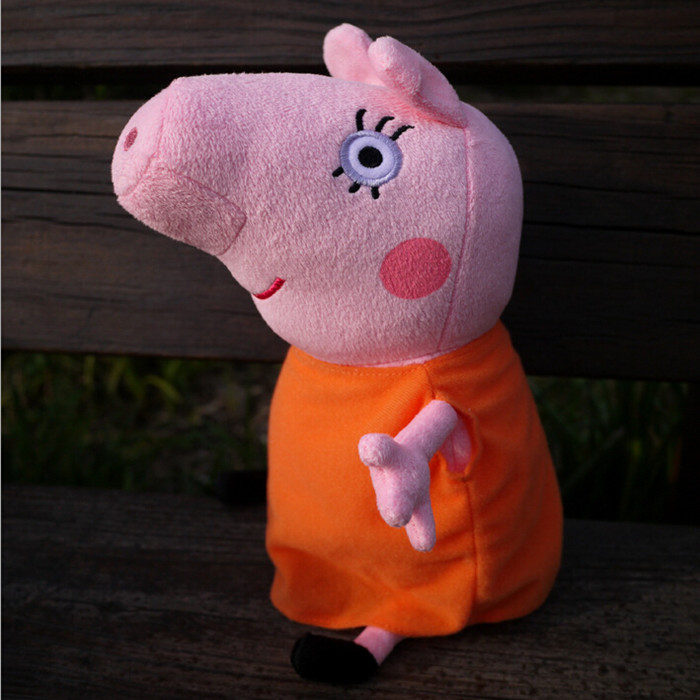Peppa Pig Stuffed Figures Toy Plush Doll Peppa George Mummy Daddy Xmas Gift