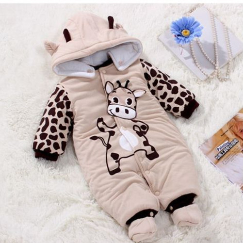 New Baby Kid Toddler Boy Unisex Winter Romper Warm Outfits Coat Jumpsuit 3-9M