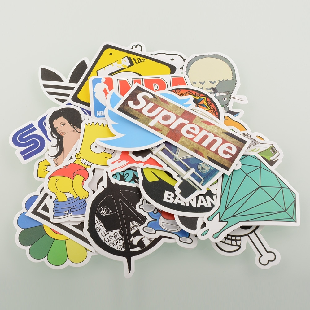 ED6D-30-50-100-PCS-Stickers-Skateboard-Laptop-Luggage-Car-Bicycle-Decals-mix