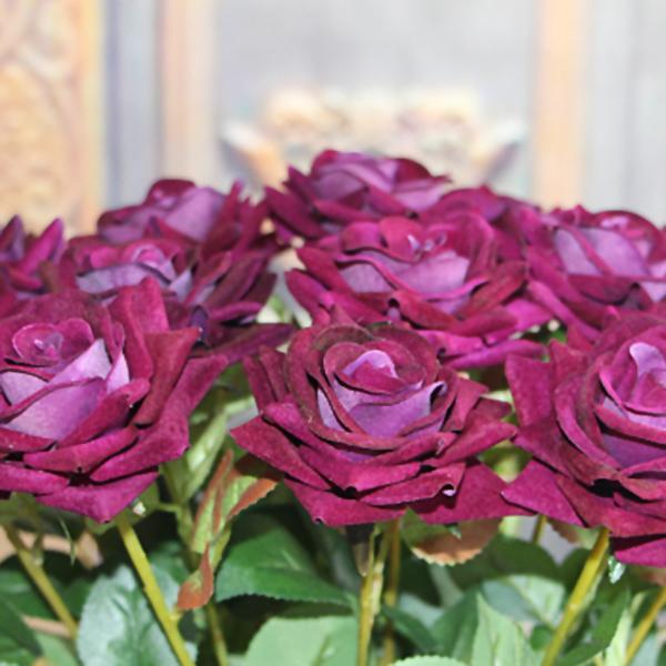 Velvet Rose Spring Artificial Fake Flower Home Room Wedding Hydrangea Decor