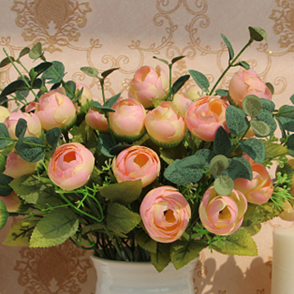 10 Heads Artificial Fake Peony Flower Table Spring Rose Hydrangea Decor