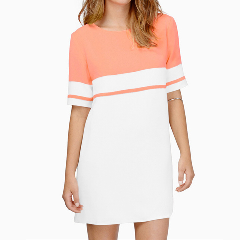 Summer Sexy Women's Loose Casual Short Sleeve Party Mini Dress Skirt Top