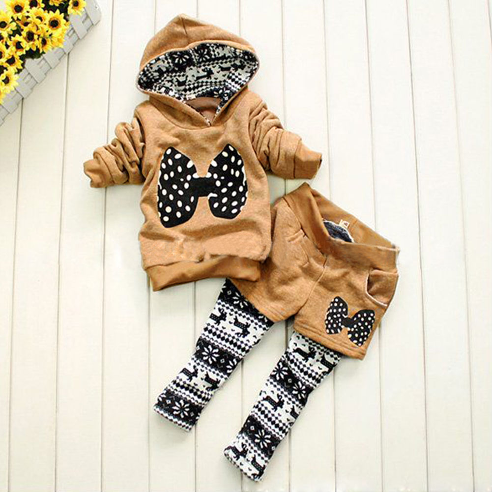 Girl Kid Casual Long Sleeve Hoodie Full Length Fake Two-piece Sets Outfits
