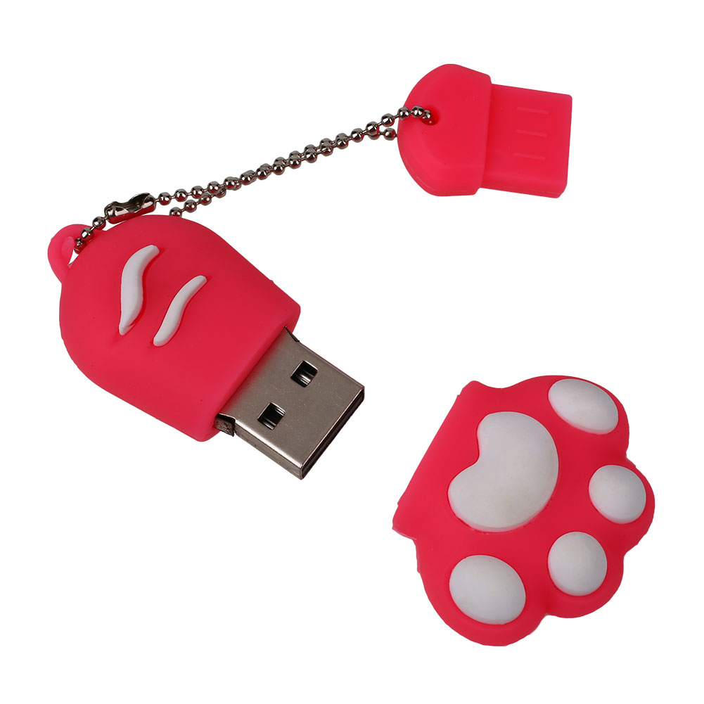 16gb usb 2 0 cat paw flash drive memory stick storage pendrive thumb u disk ebay. Black Bedroom Furniture Sets. Home Design Ideas