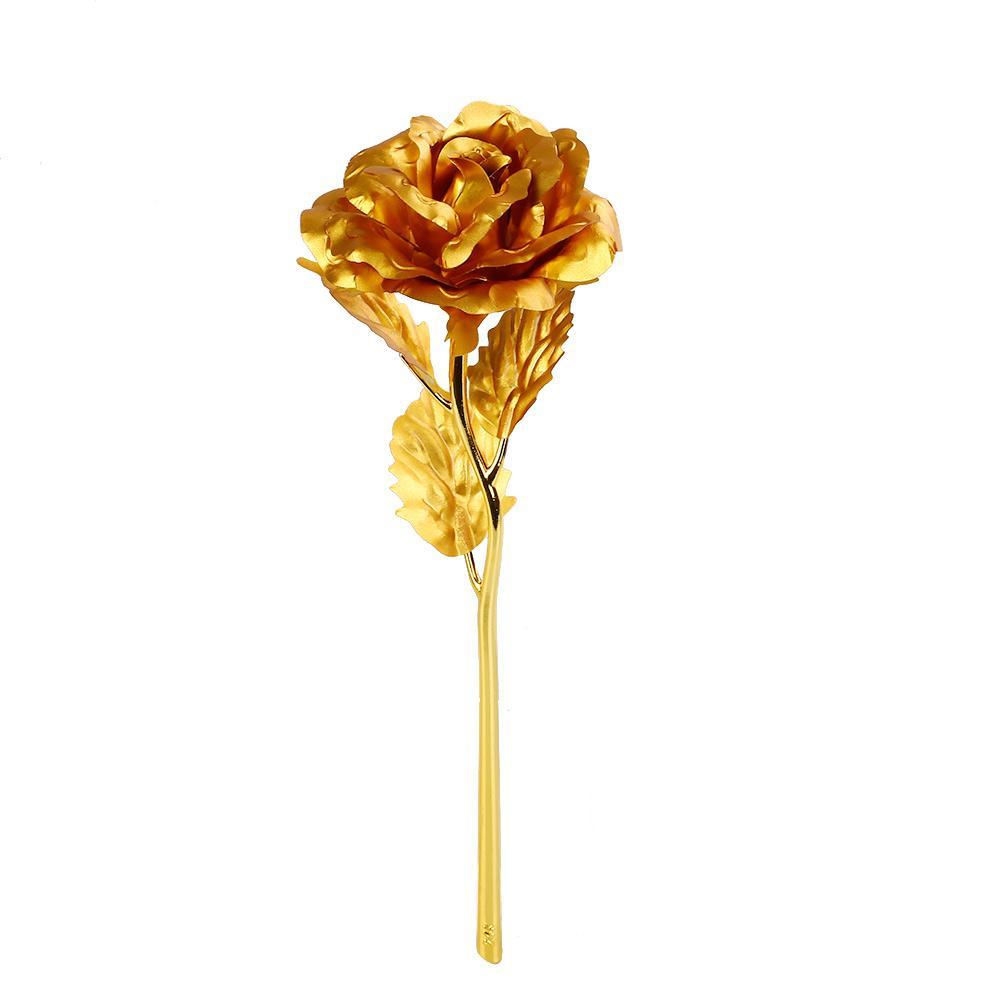 6F28-Romantic-24K-Golden-Rose-Flower-Wedding-Festive-Decoration-Without-Box