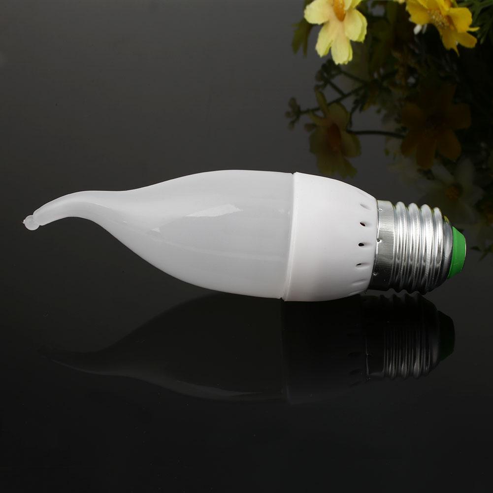 3w led candle flame shape light single bulb lamp home decoration ac 220v ebay. Black Bedroom Furniture Sets. Home Design Ideas